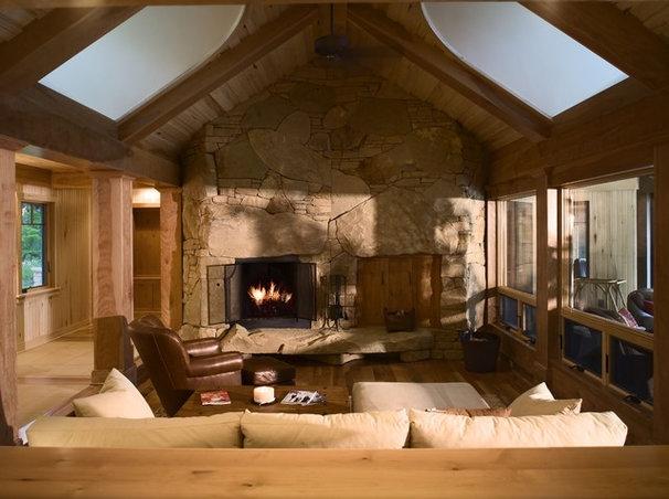Eclectic Living Room by John Kraemer & Sons