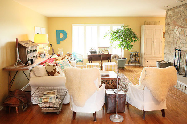 Eclectic Living Room by Julie Ranee Photography