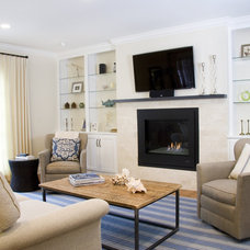 Contemporary Living Room by Judy Cook Interiors, LLC
