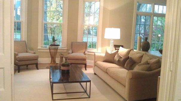 Contemporary Living Room by Kara O'Connor Interiors