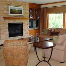 Traditional Living Room by Karlene Hunter Baum, Allied ASID