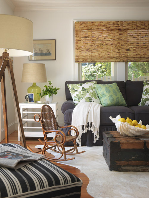 Houzz Cottage Living Room: Light And Airy