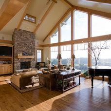 Traditional Living Room by Kaufman Homes, Inc.