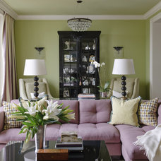 Traditional Living Room by Kendall Wilkinson Design