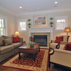 Traditional Living Room by Kipnis Architecture + Planning