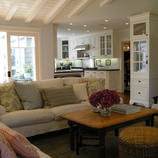 Inspiration for a timeless open concept living room remodel in Los Angeles