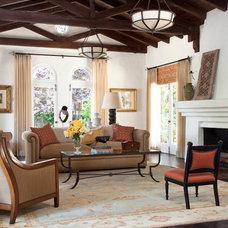 Mediterranean Living Room by Kristin Lomauro Interior Design
