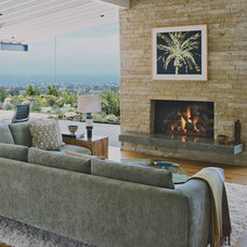 midcentury living room by Laidlaw Schultz architects