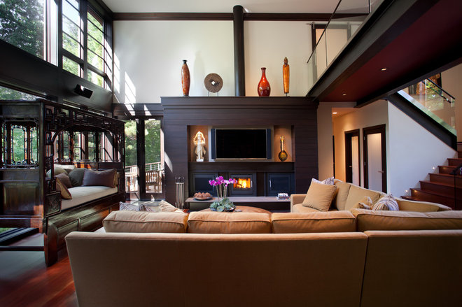 Asian Living Room by Lankford Design Group