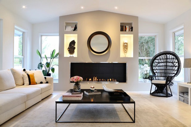 Contemporary Living Room by ID INTERIOR DESIGN LLC