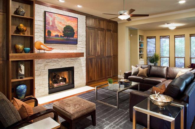 Contemporary Living Room by Laura Burton Interiors