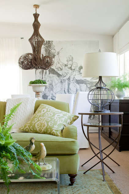 Eclectic Living Room by Lauren Liess Interiors