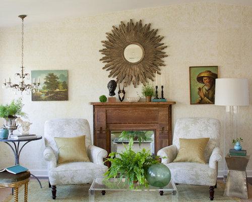 Eclectic Living Room Photo In DC Metro