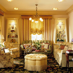 living room by Lauren Ostrow Interior Design, Inc