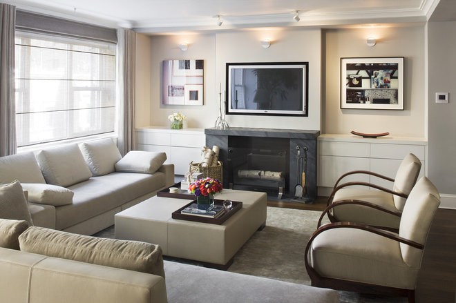 Contemporary Living Room by Laurie Lieberman Architects