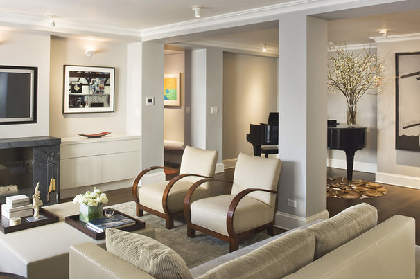 Modern Living Room by Laurie Lieberman Architects