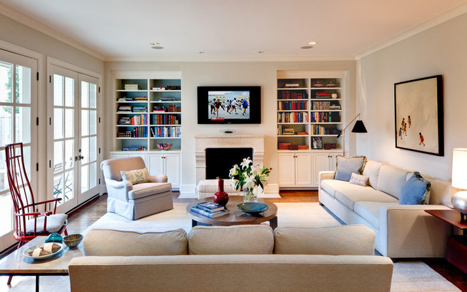 Contemporary Living Room by Laurie S Woods, ASID