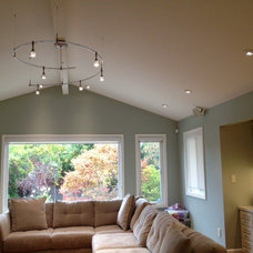 Transitional Living Room by Lite Line Illuminations, Inc.