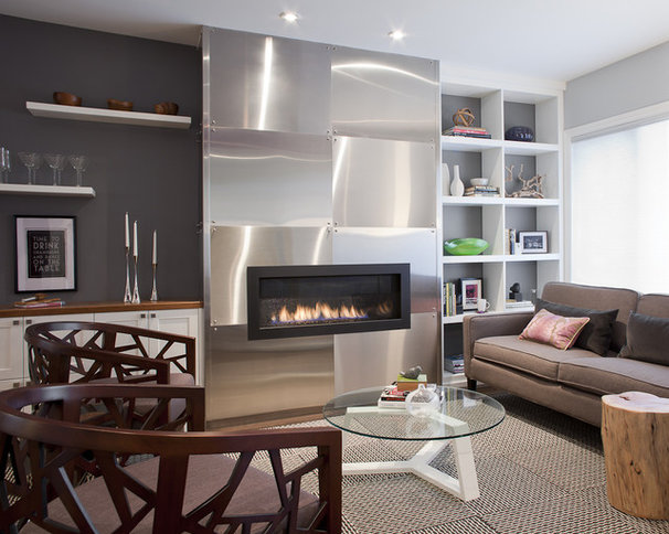 Contemporary Living Room by Leslie Goodwin Photography