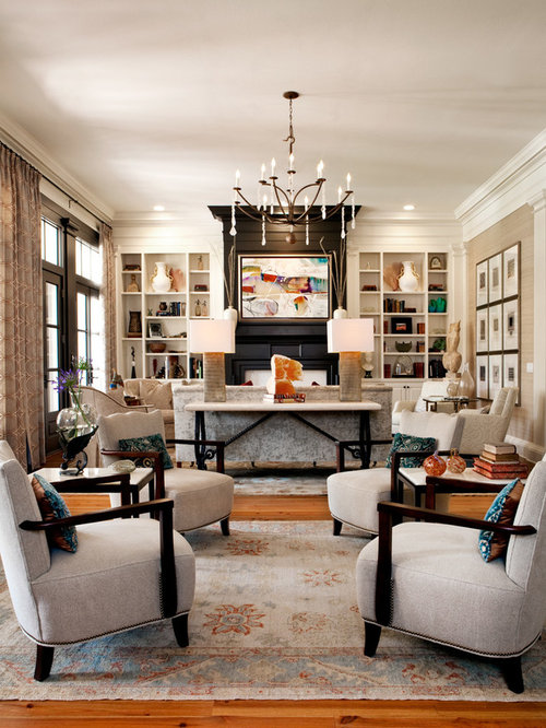 Two seating area houzz for Living room 2 seating areas
