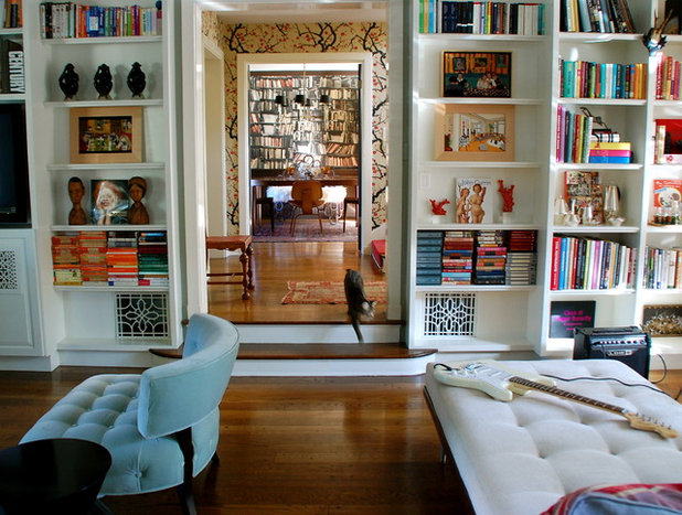 Eclectic Living Room by Lisa Borgnes Giramonti