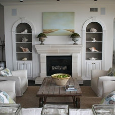 Beach Style Living Room by Liz Williams Interiors