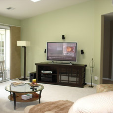 Asian Living Room by LMR Designs, LLC