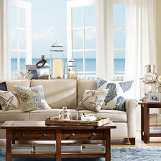 Beach Style Living Room by Pottery Barn