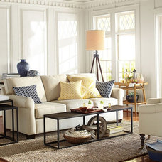 Transitional Living Room by Pottery Barn