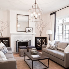 Transitional Living Room by Lux Decor