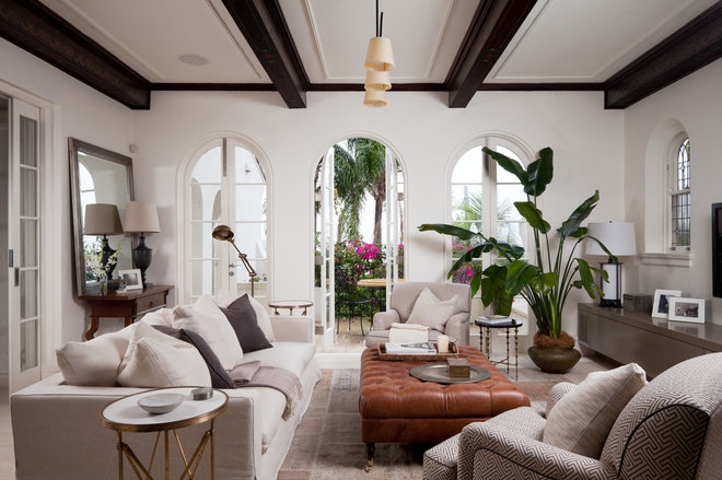 Mediterranean Living Room by Salt Interiors Joinery