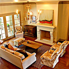 traditional living room by Marlowe Home Designs