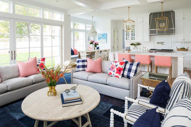 Contemporary Living Room by Martha O'Hara Interiors