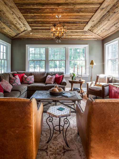 Best 30 Rustic Living Room Ideas & Remodeling Photos