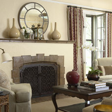 Traditional Living Room by Mary Hickey Interiors