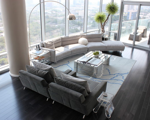 high end modern furniture. Living Room - Large Contemporary Formal And Open Concept Dark Wood Floor Black High End Modern Furniture