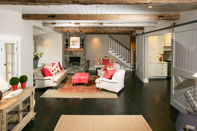 Traditional Living Room by McCoppin Studios