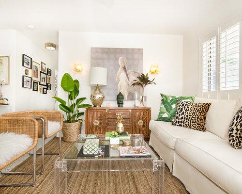 Tropical Living Room Idea In Miami