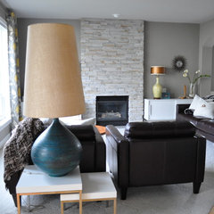 modern living room living room (mid-century flair)