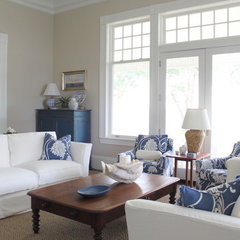 traditional living room by Molly Frey Design