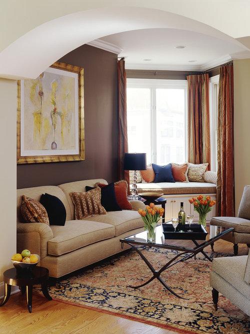 Color carpet living room design ideas renovations - Brown carpet in living room ...