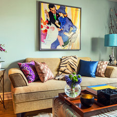 Eclectic Living Room by Montefiori Interiors