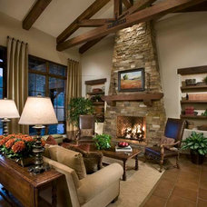 Traditional Living Room by Mooney Design Group, Inc.