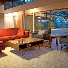 Midcentury Living Room Living Room Napa