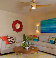 tropical living room by Natalie Younger Interior Design, Allied ASID