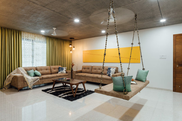 Asian Living Room by Pavan Infratech