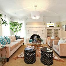 Transitional Living Room by Tamara Mack Design