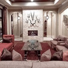 Mediterranean Living Room by Sweetlake Interior Design LLC