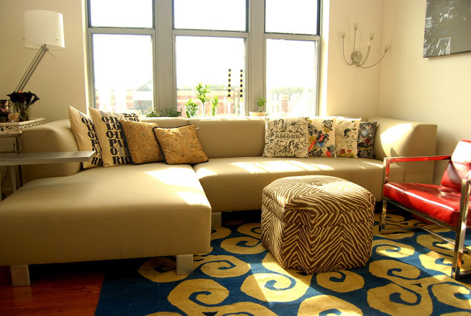 Eclectic Living Room by Nicole Lanteri