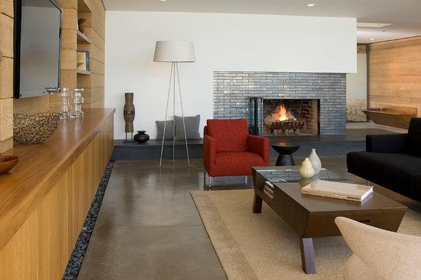 Contemporary Living Room by Ohashi Design Studio